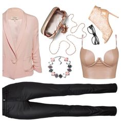 How To Wear Black and nude by Popmap Outfit Idea 2017 - Fashion Trends Ready To Wear For Plus Size, Curvy Women Over 20, 30, 40, 50