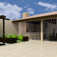 piscinas i ui Small Brick Patio, Small Outdoor Patios, Small Backyard Patio, Brick Patios, Diy Patio, Outdoor Areas, Patio Roof, Pergola Patio, Ideas Terraza