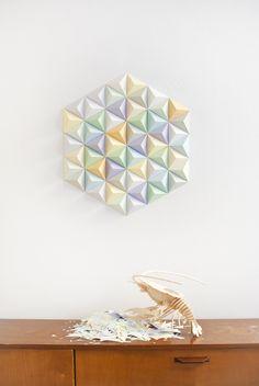 Free DIY Templates Paper Triangles  https://www.dropbox.com/s/v75ogicvt8d6gst/Free_Template_Paper_Triangles_Assembli_1.pdf?dl=0