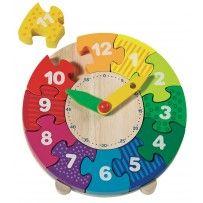 Goki Wooden Clock Puzzle I