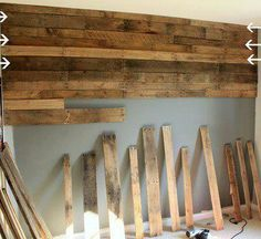pallet wall. I would love to to this in my bedroom on the long wall, then white wash it.