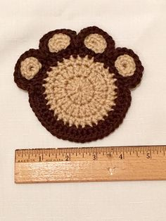 Paw Print Coasters Set of Four, Dog Coasters, Cat Mug Rug, Paw Print Drink Holder, Gifts for Cat Lovers and Dog Lovers Mug Rug Patterns, Knitting Patterns, Crochet Patterns, Crochet Ideas, Dog Christmas Stocking, Custom Christmas Stockings, Cat Lover Gifts, Dog Gifts, Cat Lovers