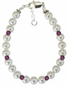 Girls Pearl Birthstone Bracelet Mothers Day -  Christmas - Birthday - grandparents D. $10.97. 100% satisfaction guaranteed. 1/2 inch extension to allow for growth and a comfortable fit. Custom sizes for infant to adult. Lead Free. Bracelet is strung on high quality stretch jewelry cord. Save 45%!