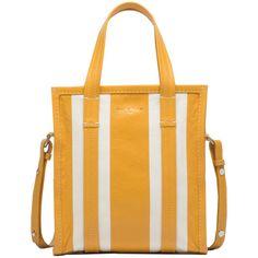 Balenciaga Bazar Shopper XS (€1.315) ❤ liked on Polyvore featuring bags, handbags, strap bag, yellow bag, yellow purse, balenciaga purse and balenciaga