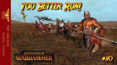 Wood Elves vs Chaos - Total War Warhammer Online Battle #110