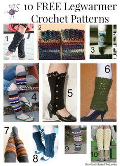 10 FREE Legwarmer Crochet Patterns | The Steady Hand