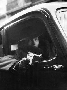 Robert Doisneau, Armed Man in Car, 1946
