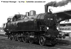 Dampflok 77 250 im Bahnhof Ceske Velenice
