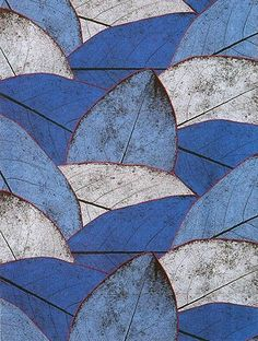 Shades of blue leaves! Patterns In Nature, Textures Patterns, Leaf Patterns, Nature Pattern, Pretty Patterns, Motifs Textiles, Blue Leaves, Motif Floral, Leaf Art
