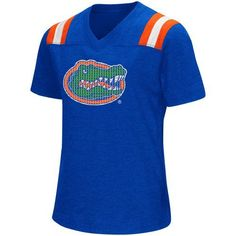 Colosseum Athletics Girls' University of Florida Rugby Short Sleeve T-shirt (Blue, Size X Large) - NCAA Licensed Product, NCAA Youth Apparel at Aca...
