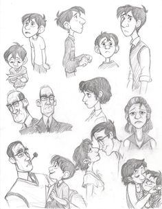 The paperman animation character design, character design references, chara Character Design Cartoon, Character Design Animation, Character Design References, Character Drawing, Character Design Inspiration, Character Concept, Concept Art, Character Reference, Character Development