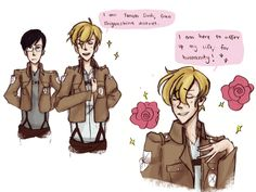 attack on titan crossover | Tumblr ^^^^^^ I didn't know I wanted this till now!