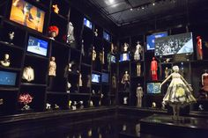 Installation view of 'Cabinet of Curiosities' gallery, Alexander McQueen Savage Beauty at the V&A © Victoria and Albert Museum, London