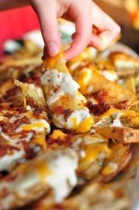 Chronic Cheesy Potato Fries - Marijuana Recipes. Get your chronic cheesy potato fries fix with this super gooey-ooey recipe!