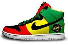 Rasta shoes by Nike. If they only made these in smaller sizes.