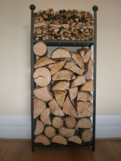Log Holder 1 mtr Tall with Kindling Shelf The original and the best. in Home, Furniture & DIY, Fireplaces & Accessories, Log Baskets & Holders | eBay