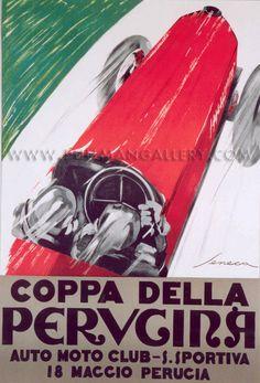 Vintage Italian Posters ~ #illustrator #Italian #vintage #posters ~ 'Coppa Della Perugina', c. 1920s