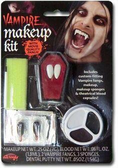 Vampire Make Up Kit con los colmillos