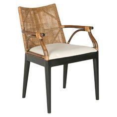 Dining Chair Wood/Brown/White - Safavieh : Target