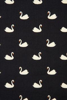 Swan Print Dress