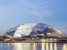 Singapore Sports Hub by DP Architects and Arup Associates - News - Frameweb #architecture #stadium