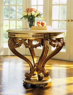 luxury furniture - center tables - beautiful decor with Louis XVI center table with Estremoz marble top