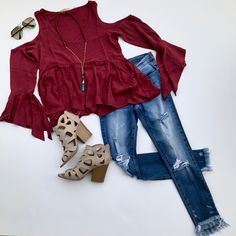 Trendy Fall transition outfit