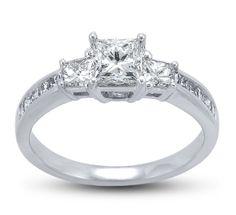 Robbins Brothers Princess Cut diamond engagement ring