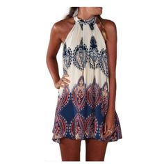 Adorable dress Would be super cute paired with wedges! Size medium but fits like a small. It is super short, so if you're tall, it would be more like a tunic and be super cute with skinny jeans! This is NOT free people, just listed it here for exposure. Free People Dresses