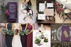 Burgundy and Plum Wedding Inspiration | Glamour & Grace