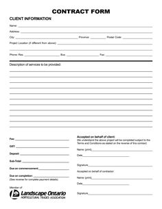 Free Printable Landscape Contract Forms_177775.png (1275×1650)