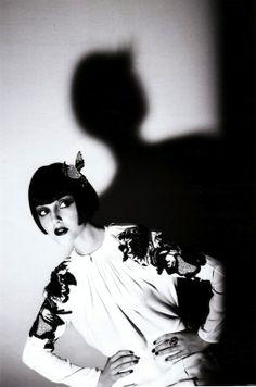 """""""Applaus!"""": Kat Shandruk as 1920s Flapper Artist, Model, etc. Kiki de Montparnasse by Arthur Elgort for German Vogue"""
