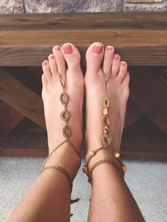How to Crochet Barefoot Sandals -Megmade with Love