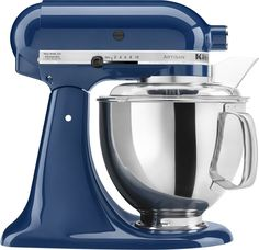 KitchenAid - Artisan Series Tilt-Head Stand Mixer - Blue Willow