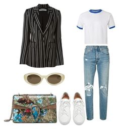 """""""Sin título #29"""" by guari-mr on Polyvore featuring moda, Givenchy, Levi's, Gucci, Elizabeth and James y Loeffler Randall"""