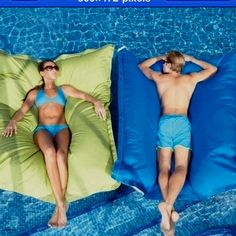 Pool pillow. Oh. Yes.