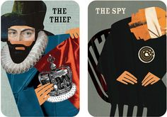 By Fishlock - a handsome deck of cards for the Tower of London, which aim to encourage teenagers to explore the site. The pack contains 12 cards grouped into four themes – rulers, rogues, prisoners and guardians – and each card features a character and instructions guiding visitors to a place in the tower specific to that character. A Henry VIII card, for example, points to his collection of armour in the white tower.  The pack was commissioned by Historic Royal Palaces, and Fishlock says…