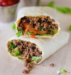 Bacon Cheeseburger Wraps | Man Chef DIY