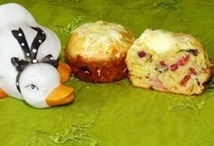 Füstölt sonkás muffin medvehagymával