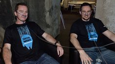 Global hackathon: Taking a break and getting fresh air at the oxygen bar.