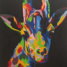 Lukisan Pop Art Jerapah