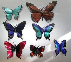 Butterflies made from Drink cans...  wow..something to do with the millions of sodas I drink!