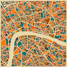 Modern Abstract City Maps by Jazzberry Blue