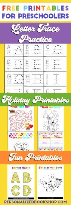Free Printables for Preschoolers | Letter Trace Practice | Preschool Holiday Activities | Fun Printables for Preschool