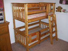 Etagenbett Dreistöckig : Bunk bed plans for this twin stackable betten etagenbett