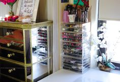 Annie Jaffrey - Organize Make-Up - Great ideas for make-up containers and where to get them