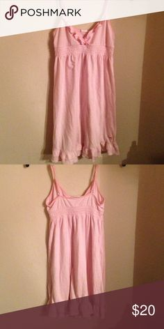 Victoria Secret Super comfy nighty with ruffles in a v at cleavage and the bottom. Victoria's Secret Intimates & Sleepwear