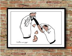 Printed illustration give a blow job, French expressions series  Original illustration created by PALM illustrations made with love 🙂  The poster is signed.   PRODUCT INFO: • Format A4 (21 x 29.7 cm) • Weight: 300g • Matte paper  INFO COLORS: • Represented colors on screen may vary from the colors of ink for printing but are very close.  • Personal delivery possible on Paris. Write me a message, because it is not possible to set this function on Etsy! • If combined shipping order of…