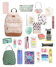 """Back to School <3"" by annajoy831 ❤ liked on Polyvore featuring Miss Selfridge, Rip Curl, Boohoo, MICHAEL Michael Kors, Sharpie, CamelBak, Post-It, Frends, Eos and Maybelline"