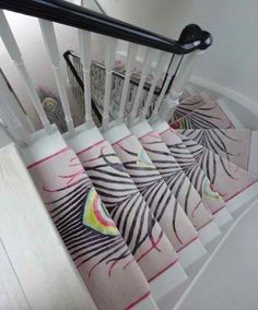 Peacock staircase runner